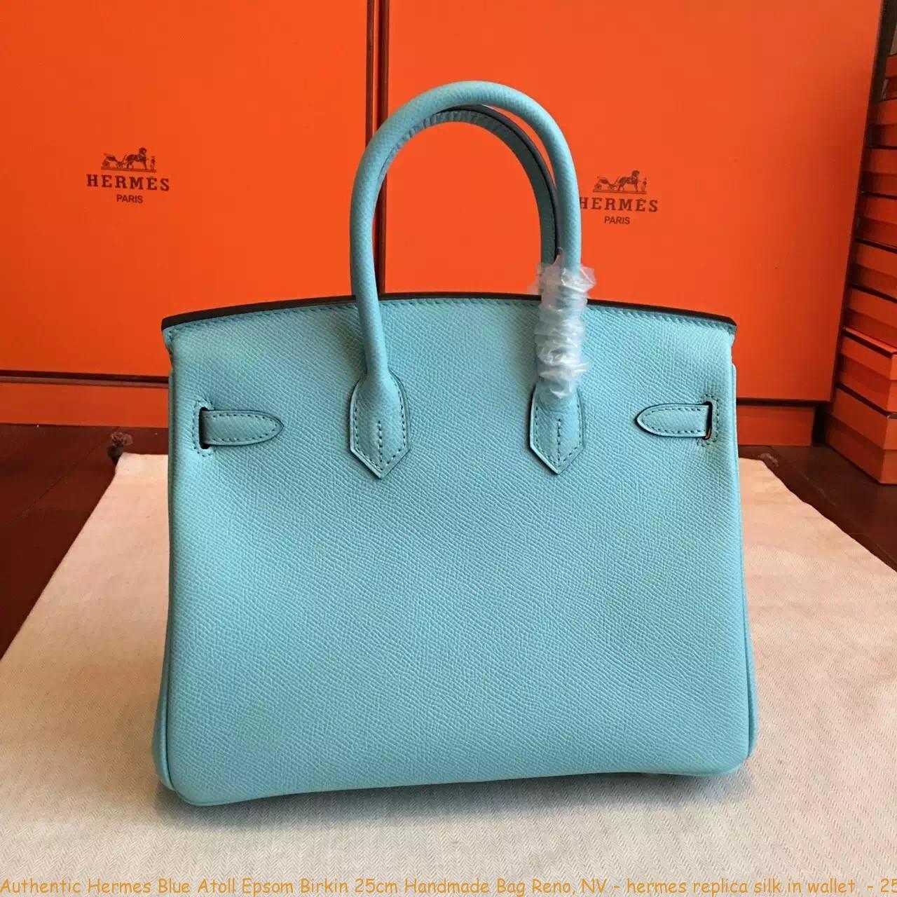2691b5453660 Authentic Hermes Blue Atoll Epsom Birkin 25cm Handmade Bag Reno