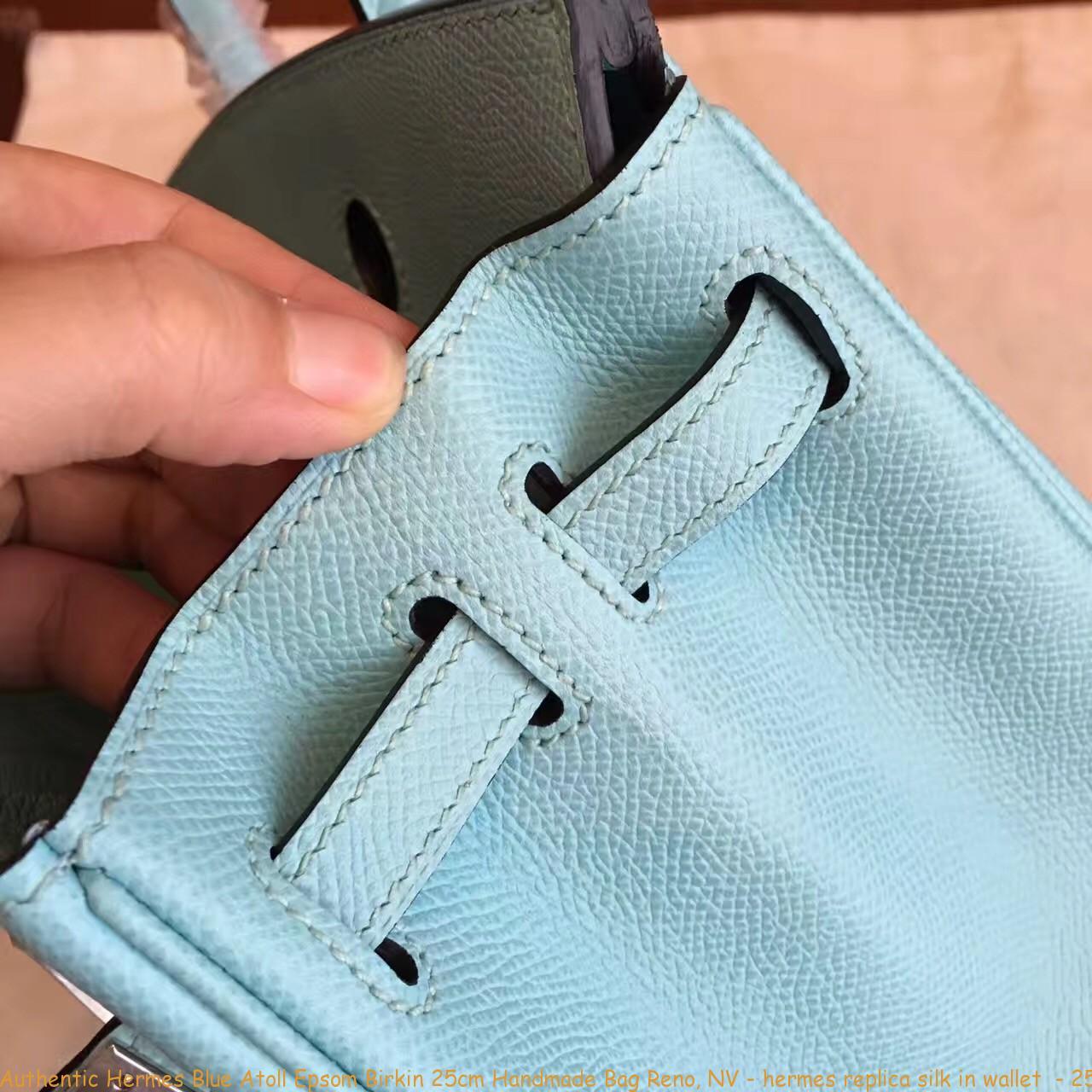 88ff9a679f0 Authentic Hermes Blue Atoll Epsom Birkin 25cm Handmade Bag Reno