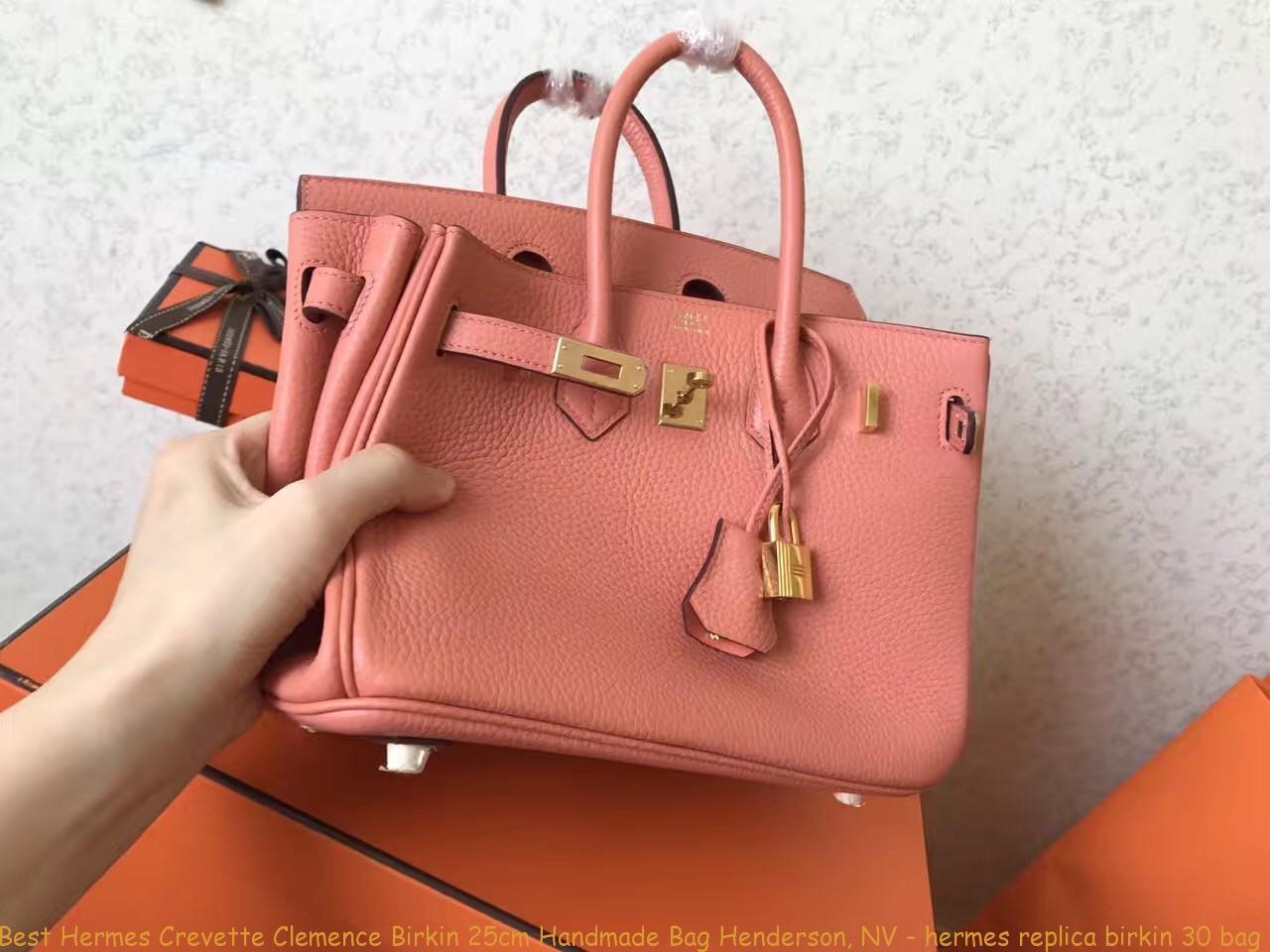 db5d53eac2 Best Hermes Crevette Clemence Birkin 25cm Handmade Bag Henderson