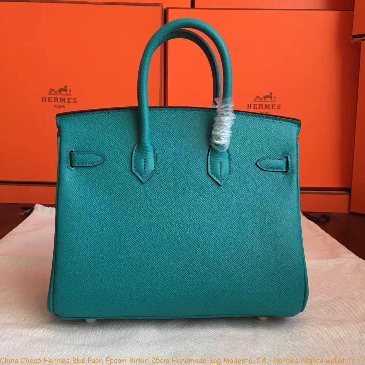 7ae6cd5af2 China Cheap Hermes Blue Paon Epsom Birkin 25cm Handmade Bag Modesto ...