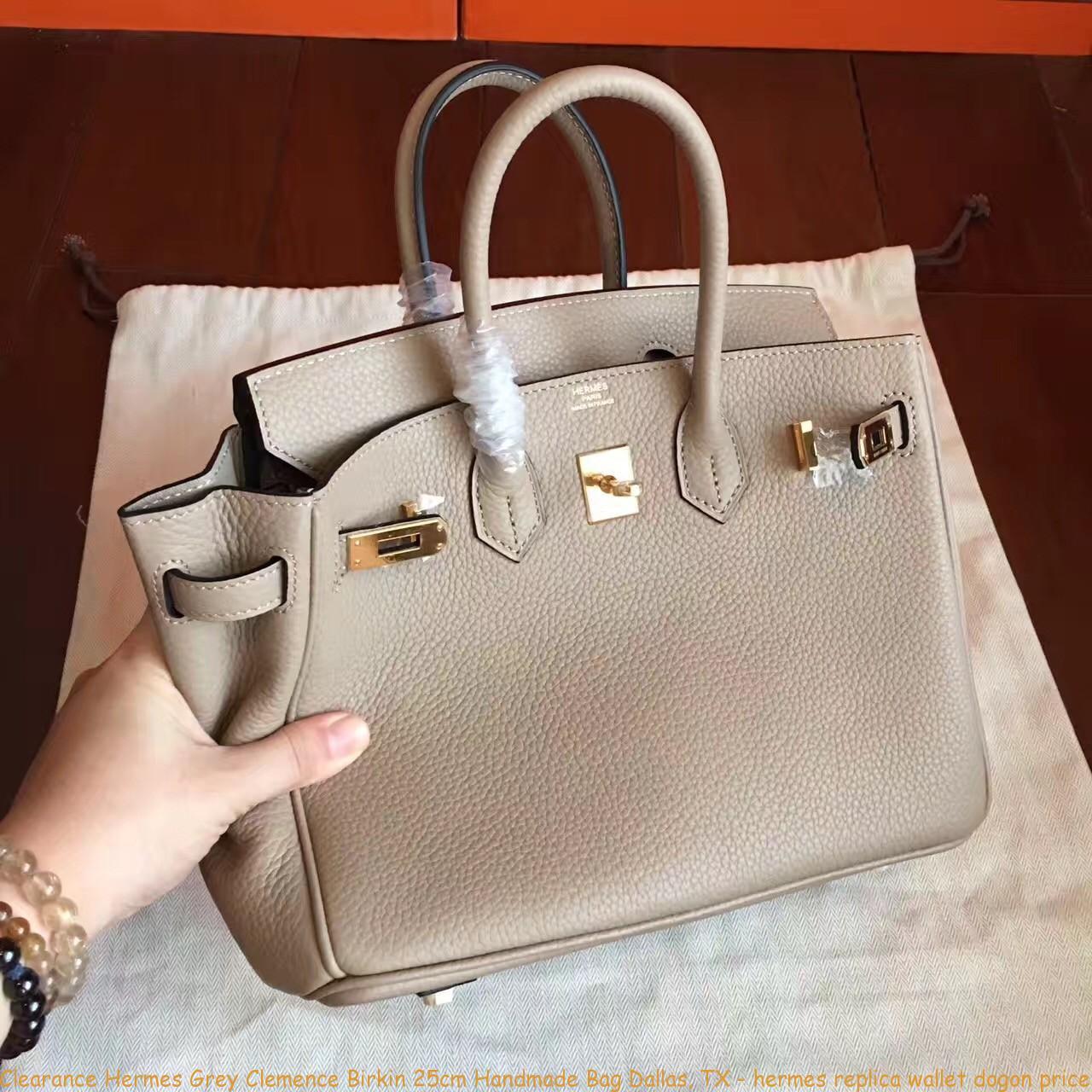 Clearance Hermes Grey Clemence Birkin 25cm Handmade Bag Dallas adc633db64b84