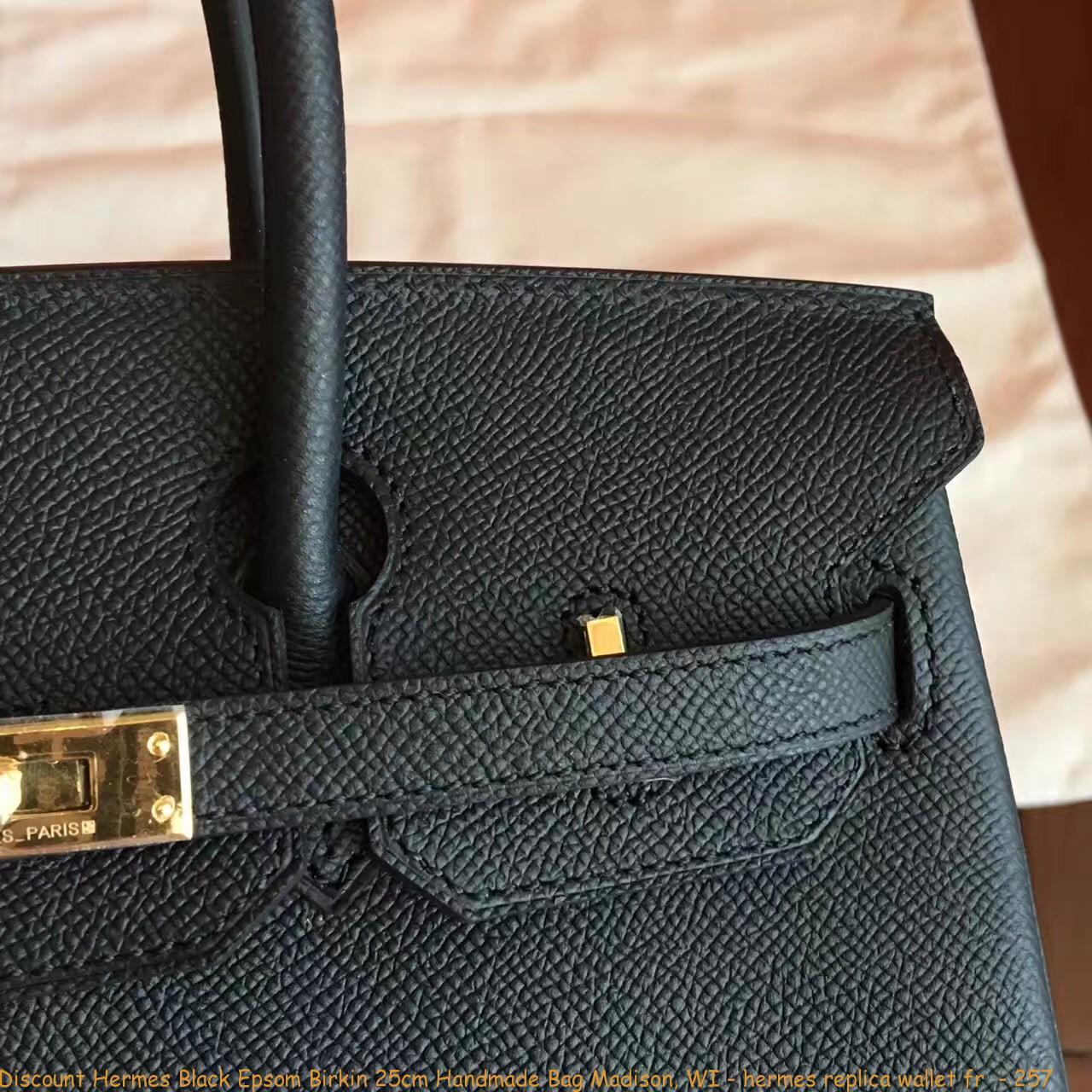 Discount Hermes Black Epsom Birkin 25cm Handmade Bag Madison 6460891fb556c
