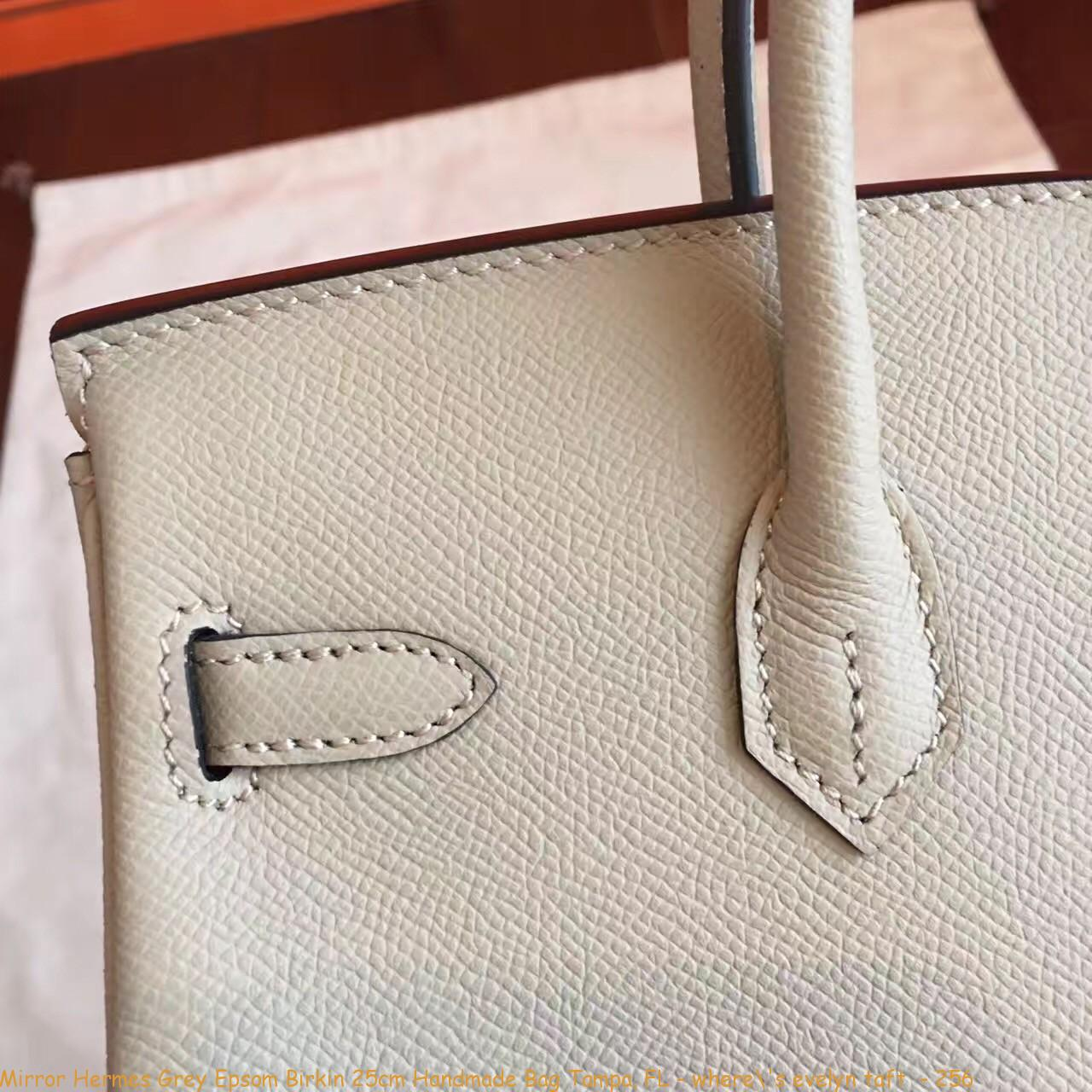 353dd435c89e Mirror Hermes Grey Epsom Birkin 25cm Handmade Bag Tampa ...