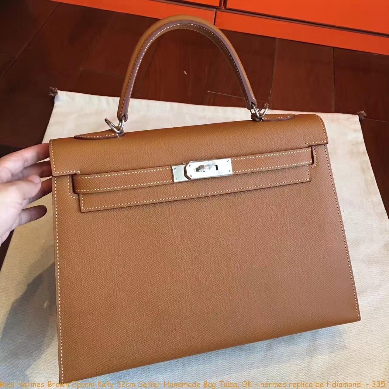 9cddcf8591 Real Hermes Brown Epsom Kelly 32cm Sellier Handmade Bag Tulsa, OK ...