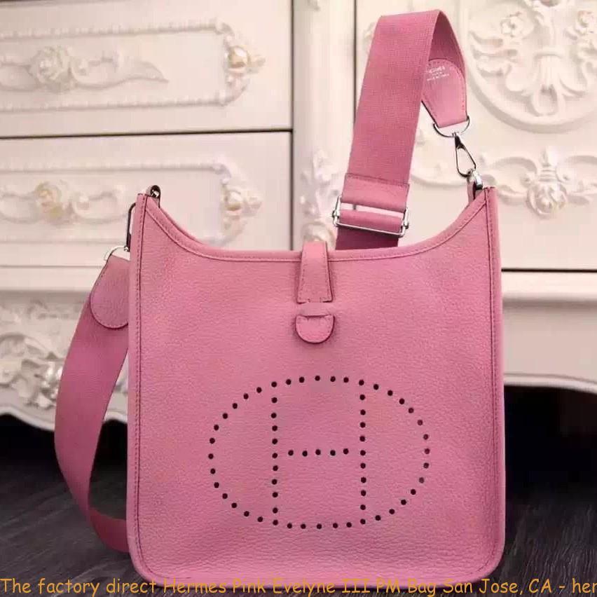 The factory direct Hermes Pink Evelyne III PM Bag San Jose e4aa83e926773